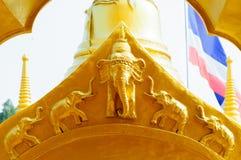 Detalj i guld- pagod Fotografering för Bildbyråer