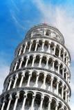 detalj italy som lutar det pisa tornet tuscany Arkivbild