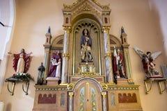 Detalj od altaret royaltyfri foto