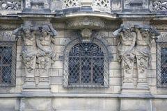 Detalj på den yttre väggen av den Dresden slotten, Sachsen, Tyskland Royaltyfri Bild