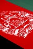 Detalj på flaggan av Afghanistan Arkivfoto