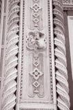 Detalj på kyrkan för fasadDoumo domkyrka, Florence Arkivbild