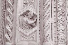 Detalj på kyrkan för fasadDoumo domkyrka, Florence Royaltyfria Bilder