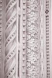 Detalj på kyrkan för fasadDoumo domkyrka, Florence Arkivfoton