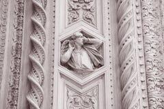 Detalj på kyrkan för fasadDoumo domkyrka, Florence Arkivbilder