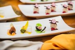 Detalj på special designe för mat på plattan Royaltyfri Foto