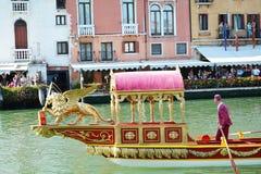 Detalj Regata Storica i Venedig Royaltyfria Foton