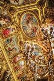 Detalj som skjutas i operan Garnier i Paris royaltyfri bild