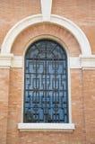 Detalj Urban blå för Glass fönster Fotografering för Bildbyråer