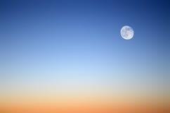 detaljaftonen moon många fotoshowsskyen Arkivfoto