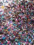 Detaljen av blänker, konfettier Arkivfoton