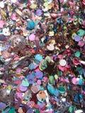 Detaljen av blänker, konfettier Royaltyfri Fotografi