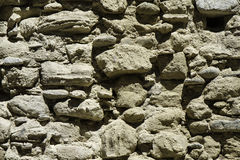 Detaljen av den gamla väggen av stenar fördärvar in Fotografering för Bildbyråer