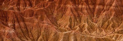 Detaljen av den röda orange sandstenen för torkan vaggar Royaltyfria Foton