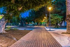 Detaljen av ett härligt parkerar i Paphos, Cypern royaltyfri bild