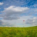 Detaljen av golfbana- och höstlandskapet fotografering för bildbyråer