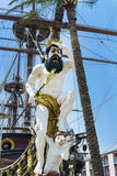 Detaljen av Neptunspansk gallion piratkopierar skeppet i Genova, Italien Royaltyfri Foto