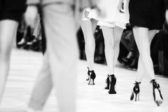 Detaljen av uppställda modemodeller för den bakre sikten lägger benen på ryggen Royaltyfria Bilder