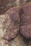 Detaljen av vaggar textur med en abstrakt sammansättning Arkivfoton