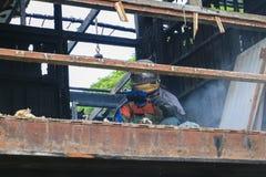 Detaljen för hem- brand avbildar brandkatastrof arkivbild