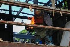 Detaljen för hem- brand avbildar brandkatastrof arkivfoton