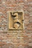 Detaljen från kyrkan av Eremitanien är en Augustinian kyrka av det 13th århundradet Padua, Royaltyfria Foton