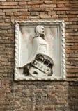 Detaljen från kyrkan av Eremitanien är en Augustinian kyrka av det 13th århundradet Padua Arkivfoton