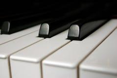 detaljen keys pianot royaltyfria foton
