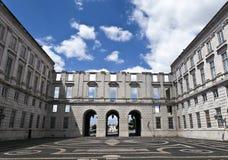 Detaljer av Ajuda den nationella slotten i Lissabon, Portugal Arkivbild