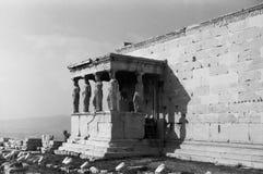 Detaljer av akropolen i Aten arkivbilder