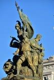 Detaljer av altairen av fäderneslandet, Rome Italien Fotografering för Bildbyråer