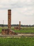 Detaljer av arkitekturen av Auschwitz Royaltyfri Fotografi