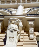 Detaljer av Art Nouveau byggnader Fotografering för Bildbyråer