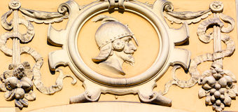 Detaljer av Art Nouveau byggnader Arkivfoto