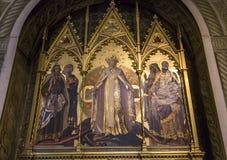 Detaljer av battisterodina San Giovanni, Siena, Italien Royaltyfria Foton