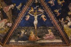 Detaljer av battisterodina San Giovanni, Siena, Italien Arkivfoton