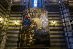 Detaljer av battisterodina San Giovanni, Siena, Italien Royaltyfri Bild