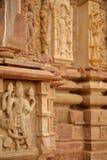 Detaljer av carvingsna av den hinduiska templet av Menal, Rajasthan, Indien Menal lokaliseras 54 km från Chittorgarh Arkivbild
