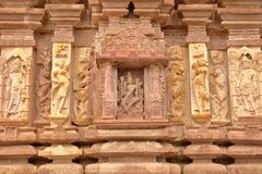 Detaljer av carvingsna av den hinduiska templet av Menal, Rajasthan, Indien Menal lokaliseras 54 km från Chittorgarh Fotografering för Bildbyråer