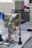 Detaljer av CNC-maskinen Arkivbilder