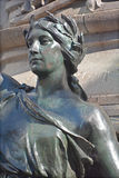 Detaljer av den Edward VII monumentet Arkivfoton