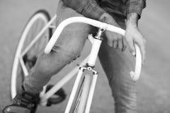 Detaljer av den fasta cykeln Fotografering för Bildbyråer