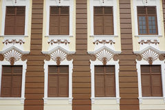 Detaljer av den gamla byggnaden i Melaka, Malaysia royaltyfri fotografi