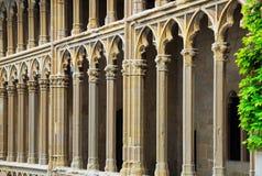 Detaljer av den gotiska slotten Royaltyfria Bilder