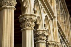 Detaljer av den gotiska slotten Olite Royaltyfri Bild