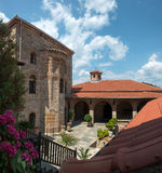 Detaljer av den heliga kloster av stora Meteoron Arkivfoto