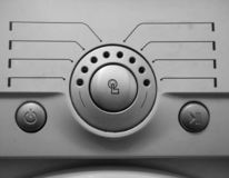 Detaljer av den hem- tvättmaskinen royaltyfri bild