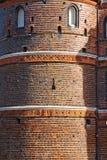 Detaljer av den Holsten porten i Lubeck den gamla staden, Tyskland Royaltyfri Bild