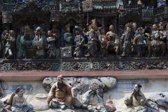 Detaljer av den kinesiska templet Royaltyfri Foto