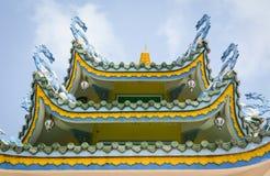 Detaljer av den kinesiska templet Arkivfoto